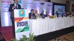 Shri J.S. Deepak, Secretary, Telecom and Chairman of TEPC speaking at the India Telecom 2016 meet - 7th International Buyer Seller meet
