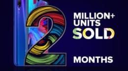 Redmi Note 7 Series clocks 2 million unit sales