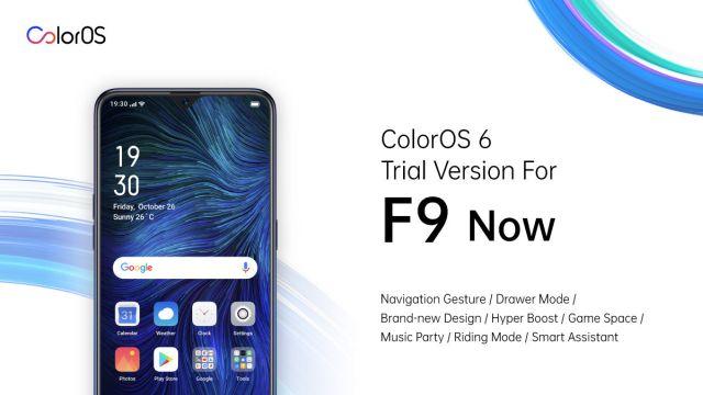 ColorOS 6 upgrade on OPPO F9