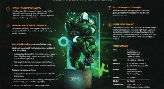 MediaTek G70 supports hard core gaming