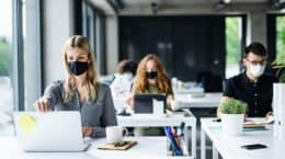 It is believed that 39% have changed their IT policy to help employees work within a new operating model and about 59%have deployed new communication and productivity